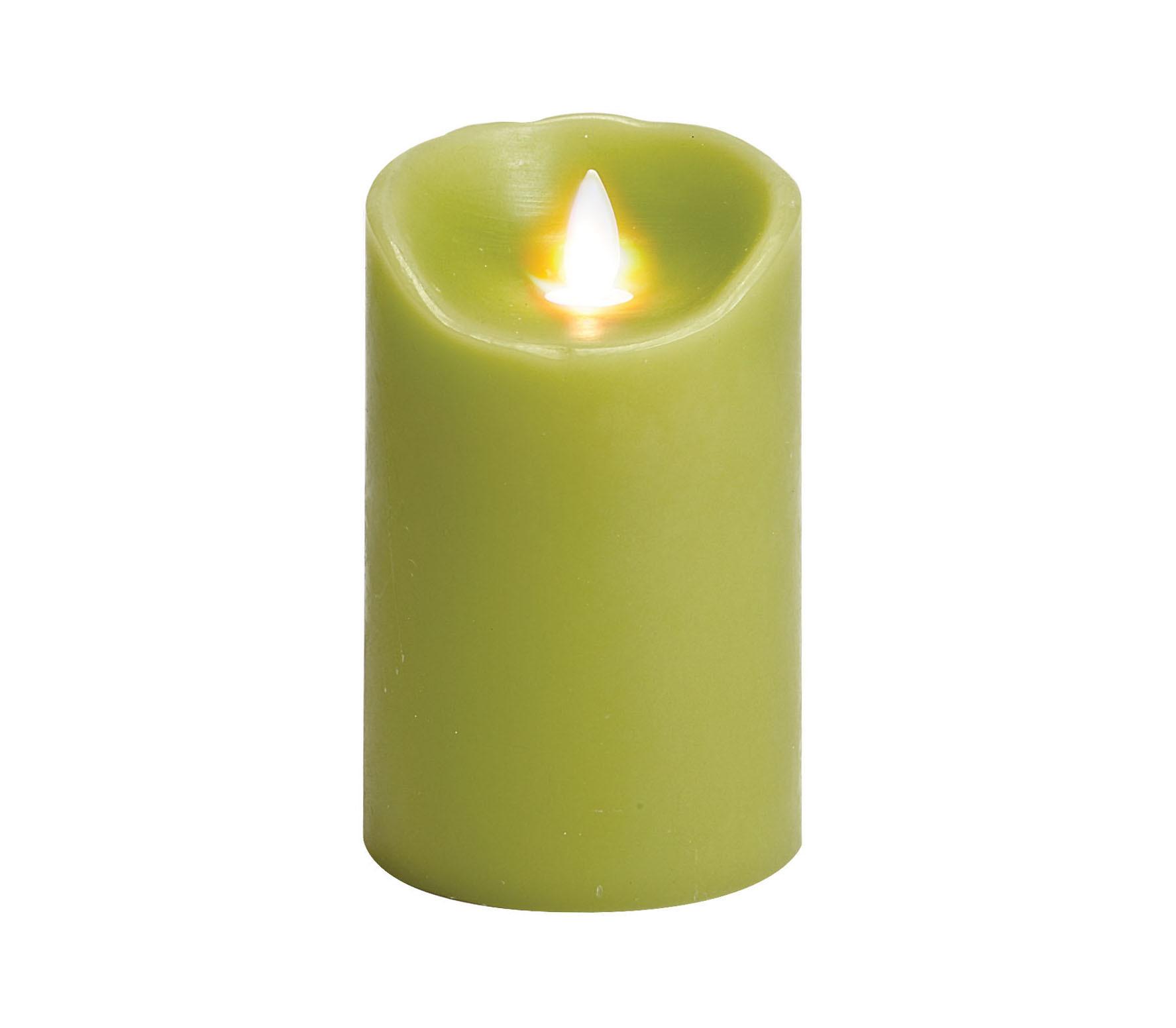 bougie sans flamme verte 3 x 5 floralies jouvence. Black Bedroom Furniture Sets. Home Design Ideas
