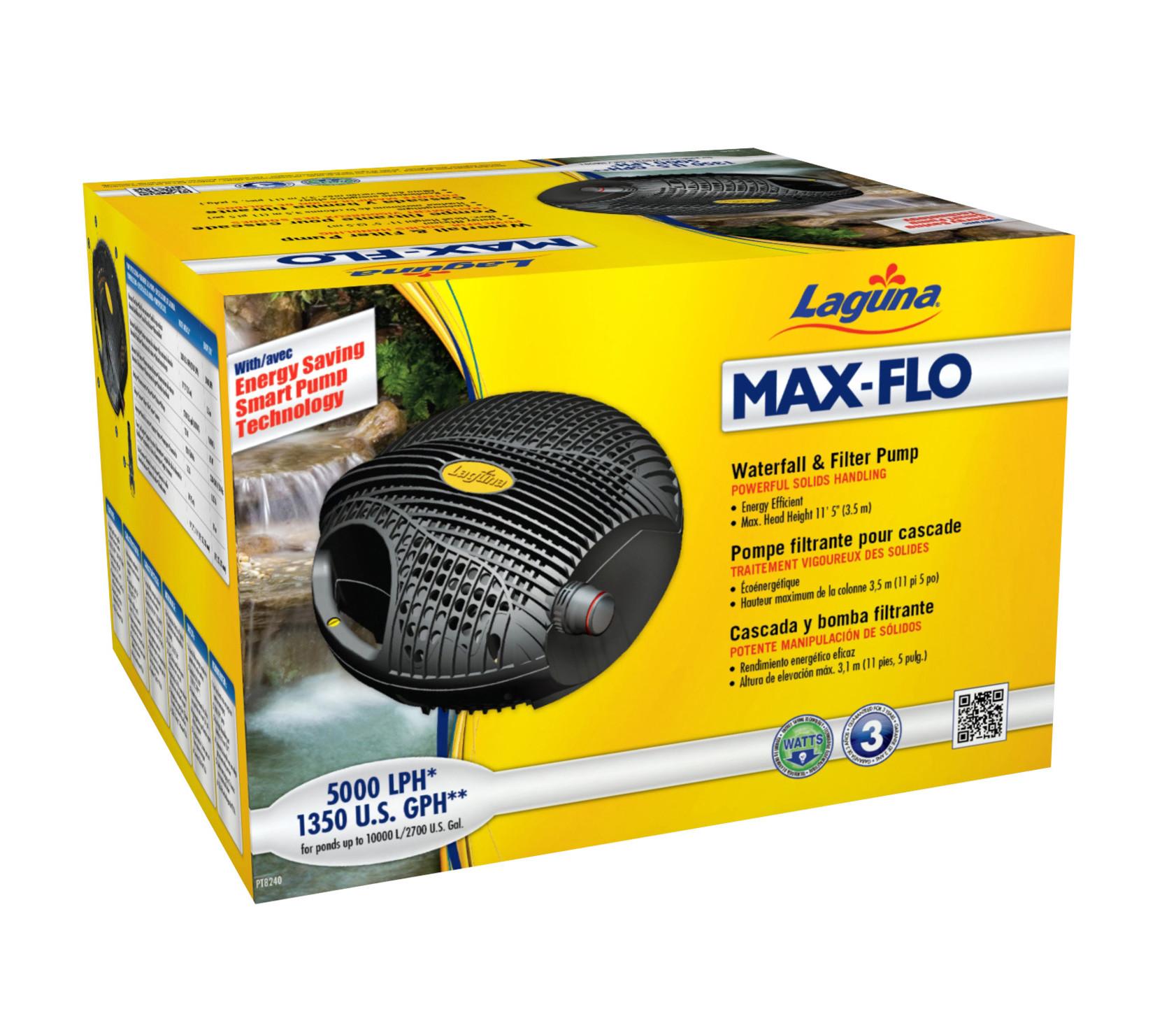 Pompe filtrante max flo 1350 laguna pour cascade 5 100 l for Pompe filtrante