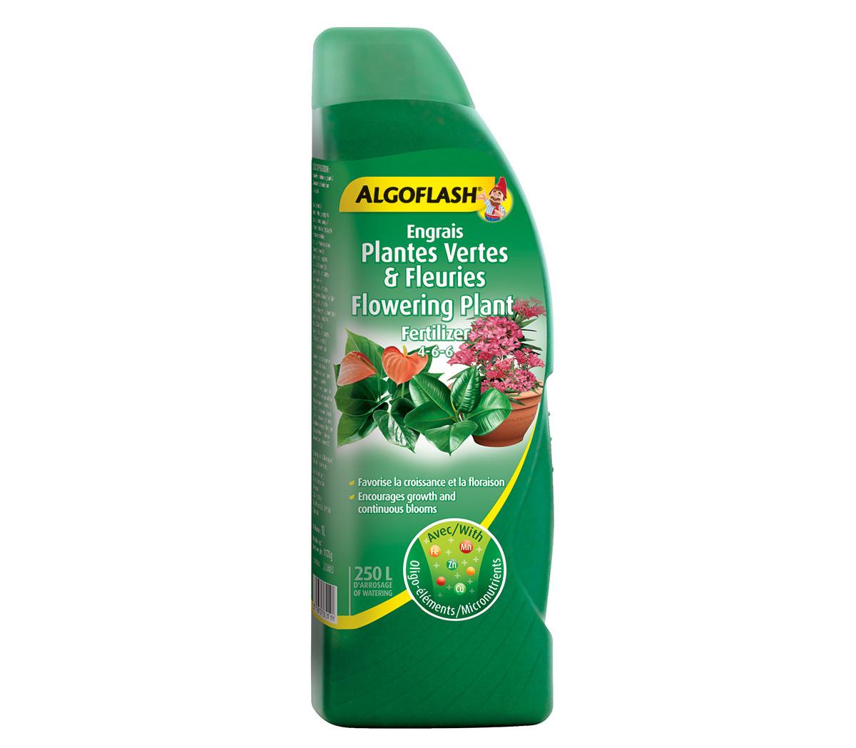 Engrais plantes vertes fleuries 4 6 6 1 l floralies jouvence - Engrais plante verte ...
