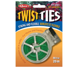 Ruban broche plastifiée 65' Twist Ties