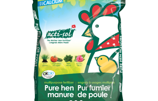 Engrais naturel à usages multiples (pur fumier de poule) 5-3-2 - 20 kg Acti-sol