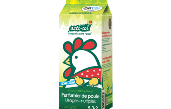 Engrais naturel à usages multiples (pur fumier de poule) 5-3-2 - 1.36 kg Acti-sol