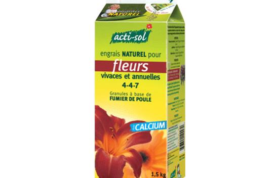 engrais naturel pour fleurs vivaces et annuelles 4 4 7 1 5 kg acti sol floralies jouvence. Black Bedroom Furniture Sets. Home Design Ideas